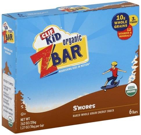 Clif Organic, S'mores Z Bar - 6 ea, Nutrition Information