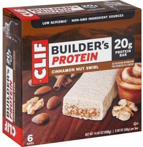 Clif Protein Bar Cinnamon Nut Swirl, Builder's Protein