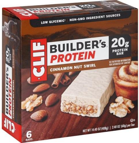 CLIF Cinnamon Nut Swirl, Builder's Protein Protein Bar - 6 oz