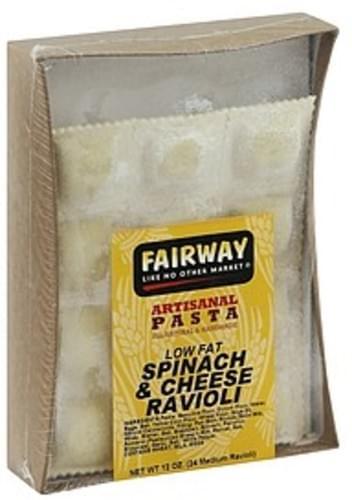 Fairway Low Fat, Spinach & Cheese Ravioli - 24 ea