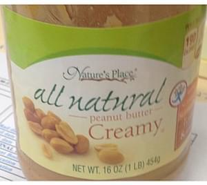 Nature's Place Creamy Peanut Butter
