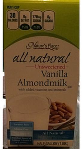 Nature's Place Unsweetened Vanilla Almondmilk - 240 ml