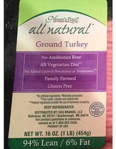 Nature's Place Ground Turkey - 112 g
