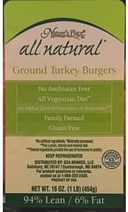 Nature's Place Ground Turkey Burger
