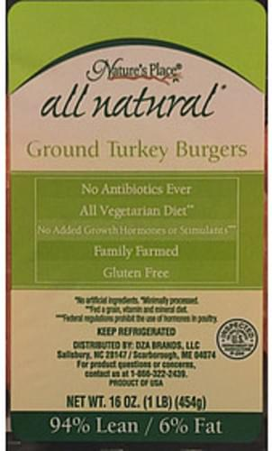 Nature's Place Ground Turkey Burger - 112 g