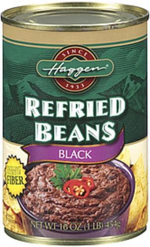 Haggen Black Refried Beans - 16 oz