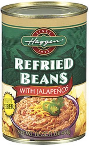 Haggen W/Jalapenos Refried Beans - 16 oz