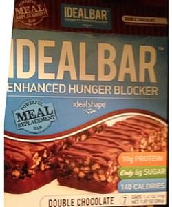 Ideal Bar Double Chocolate Meal Replacement Bar