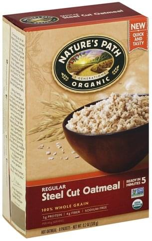 Natures Path Steel Cut, Regular Oatmeal - 8 ea