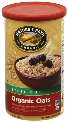 Natures Path Organic, Steel Cut Oats - 30 oz