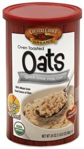 Country Choice Oats Steel Cut, Quick Cook, Oven Toasted