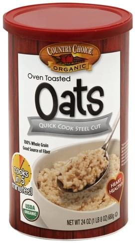 Country Choice Steel Cut, Quick Cook, Oven Toasted Oats - 24 oz