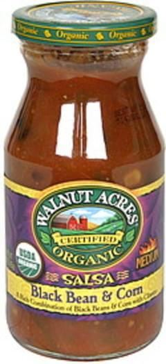 Walnut Acres Salsa Black Bean & Corn, Organic, Medium