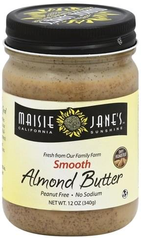 Maisie Janes California Sunshine Smooth Almond Butter - 12 oz