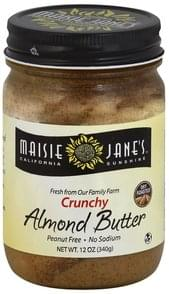 Maisie Janes California Sunshine Almond Butter Crunchy