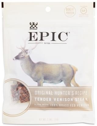 Epic Sea Salt & Pepper Venison Steak Bites - 2.5 oz