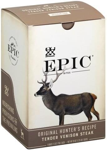 Epic Tender, Original Hunter's Recipe Venison Steak Bites - 8 ea