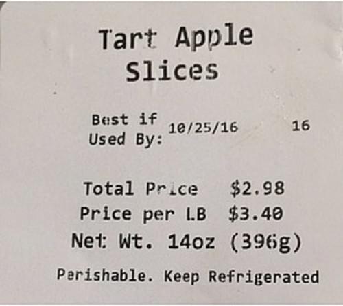 Walmart Tart Apple Slices - 140 g