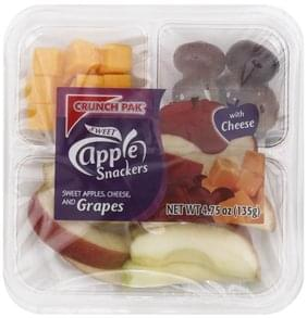 Crunch Pak Apple Snackers Sweet Apples, Cheese and Grapes