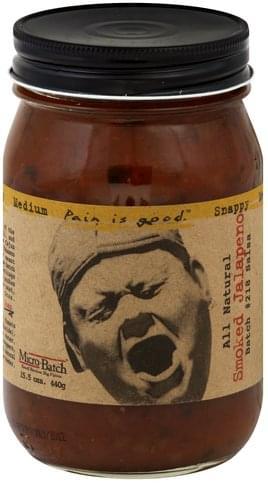 Pain Is Good Smoked Jalapeno, Batch No. 218, Snappy, Medium Salsa - 15.5 oz
