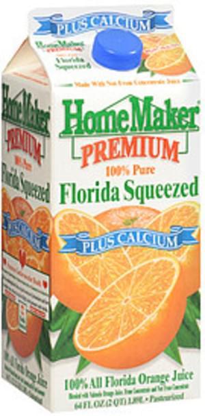 Home Maker Premium Florida Squeezed Orange Juice - 64 oz