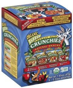 Crunchies Snacks Natural, Freeze Dried, Organic, Munch Paks