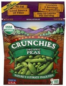 Crunchies Peas Organic, Freeze Dried