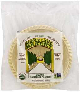 Maple Lane Bakery Pie Shells Organic, Traditional, 9 Inch
