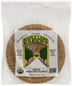 Maple Lane Bakery Pie Shells Organic, Whole Wheat, 9 Inch
