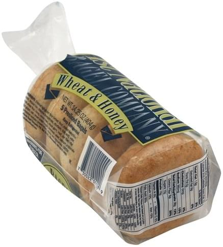 1st National Bagel Wheat & Honey, Pre-Sliced Bagels - 5 ea
