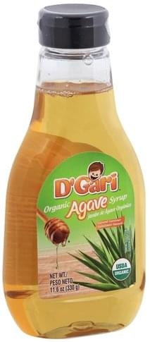 D Gari Organic, Agave Syrup - 11.6 oz