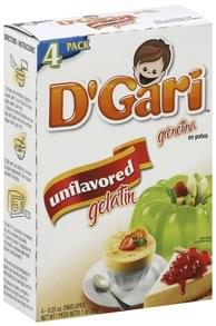 D Gari Gelatin Unflavored, 4 Pack