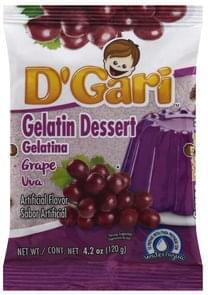 D Gari Gelatin Dessert Grape