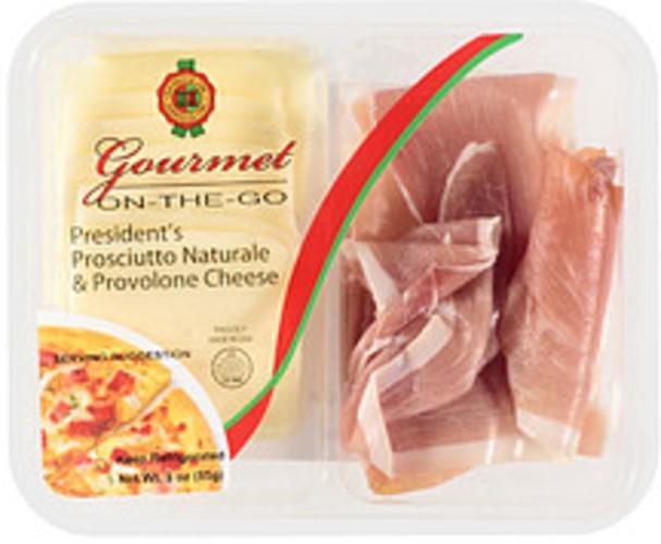 daniele president's prosciutto naturale  provolone cheese