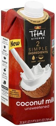 Strange Thai Kitchen Unsweetened Coconut Milk 25 36 Oz Nutrition Interior Design Ideas Clesiryabchikinfo