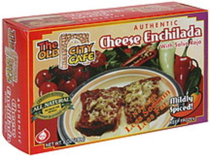The Old City Cafe with Salsa Roja, Mildly Spiced Cheese Enchilada - 8 oz