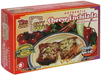 The Old City Cafe Cheese Enchilada with Salsa Roja, Mildly Spiced
