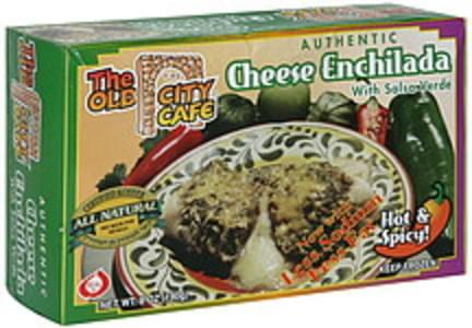 The Old City Cafe Cheese Enchilada with Salsa Verde, Hot & Spicy