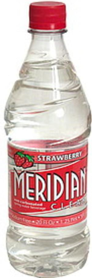 Meridian Non-Carbonated Spring, Strawberry Water - 20 oz