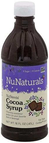 Nunaturals NuStevia Cocoa Syrup - 16 oz