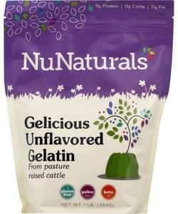 Nunaturals Gelatin Unflavored, Gelicious