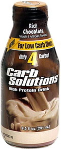 Carb Solutions High Protein Drink, Rich Chocolate