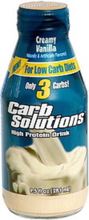 Carb Solutions High Protein Drink, Creamy Vanilla - 9.5 oz