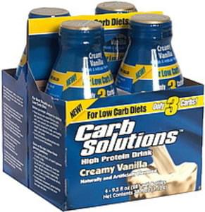 Carb Solutions High Protein Drink, Creamy Vanilla