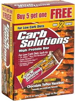 Carb Solutions High Protein Bar, Chocolate Toffee Hazelnut