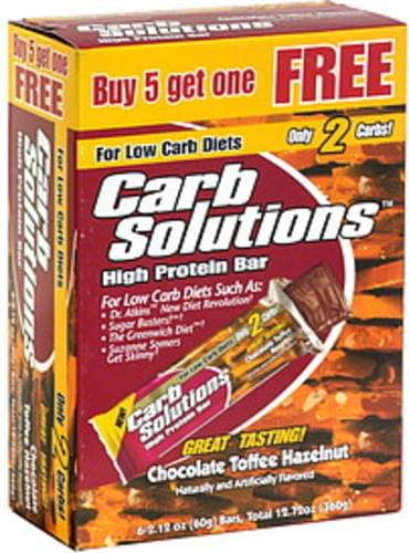 Carb Solutions High Protein Bar, Chocolate Toffee Hazelnut - 6 ea