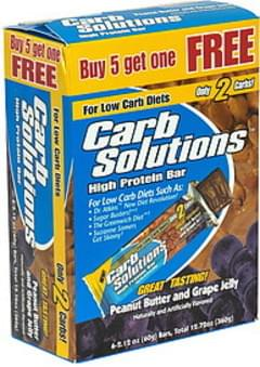 Carb Solutions High Protein Bar, Peanut Butter and Grape Jelly