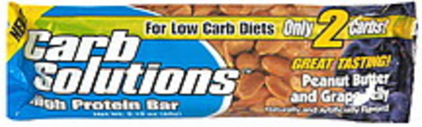 Carb Solutions Peanut Butter and Grape Jelly High Protein Bar - 2.12 oz