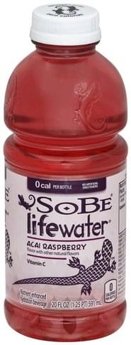 SoBe Nutrient Enhanced, Acai Raspberry Hydration Beverage - 20 oz