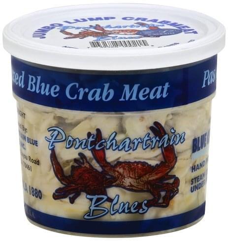Pontchartrain Blues Blue, Jumbo Lump Crab Meat - 16 oz